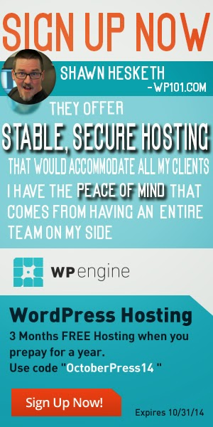 WP Engine WordPress Hosting OctoberPress14 special offer