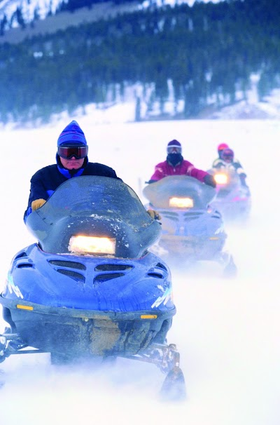 Snowmobiling in Benzie County Michigan with 135 miles of Trails