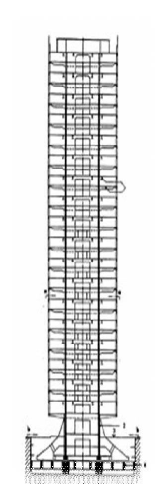 Вертикальный разрез здания по