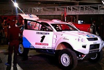 Un coche eléctrico en Dakar 2012