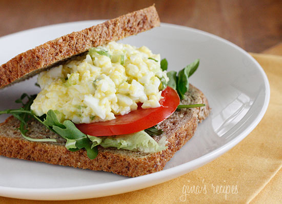 ... eggs make this easy guiltless egg salad made with mostly egg whites