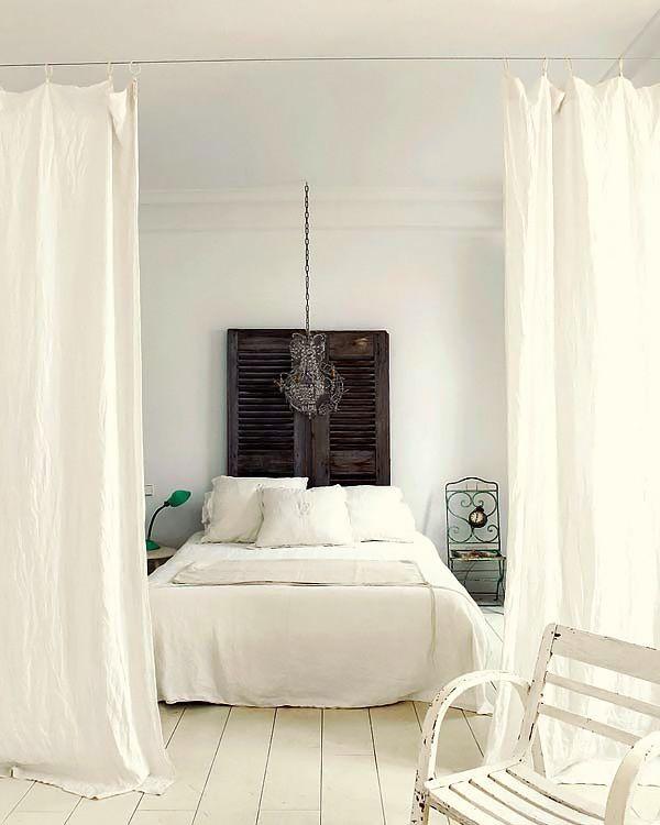 Cosas de casa separar ambientes con cortinas - Anillas de cortinas ...