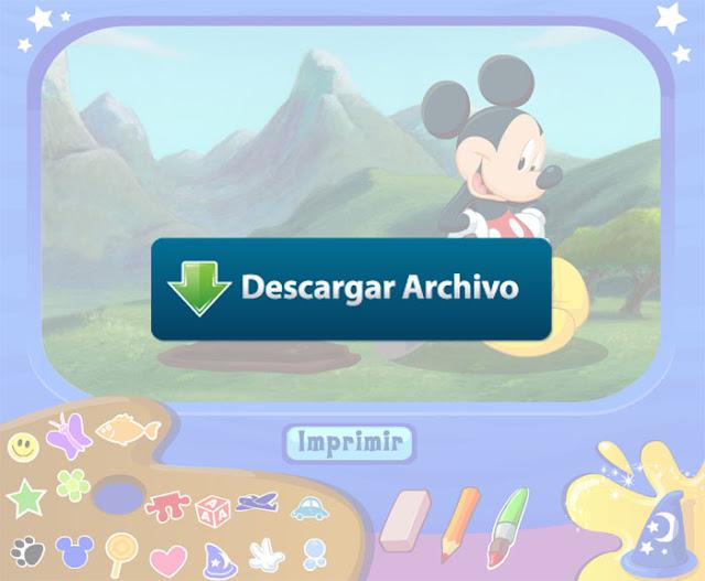 Juego Pintar con Mickey