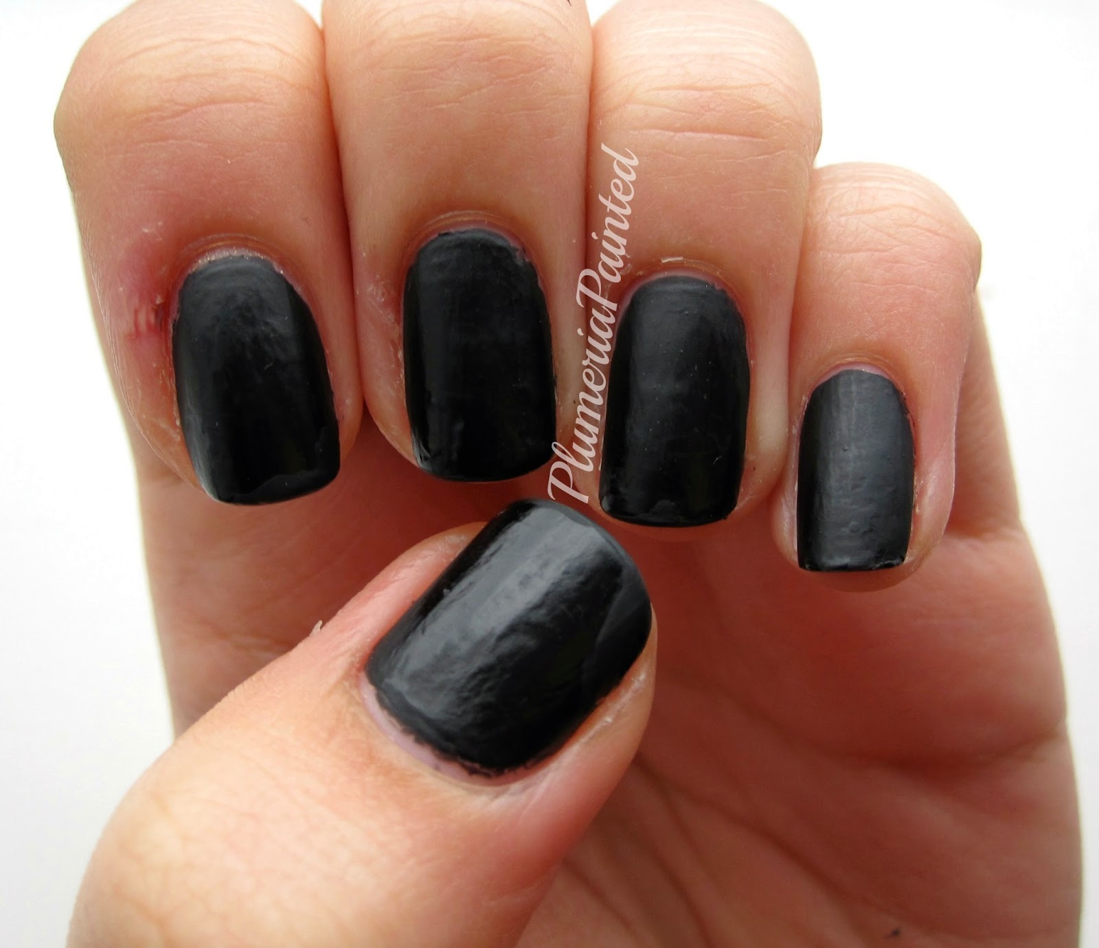 Chalkboard Nail Polish: PlumeriaPainted: Black Nails: Ciaté