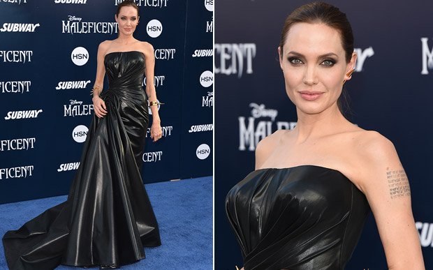 'Maleficent World Premiere - Angelina Jolie in Atelier Versace