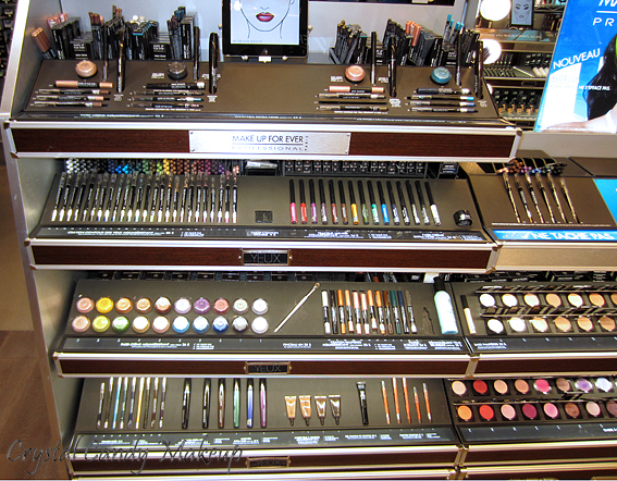Boutique Make Up For Ever au Sephora Ste-Catherine - Aqua Eyes, Aqua Cream, Aqua Shadow, Smoky Lash, Aqua Brow