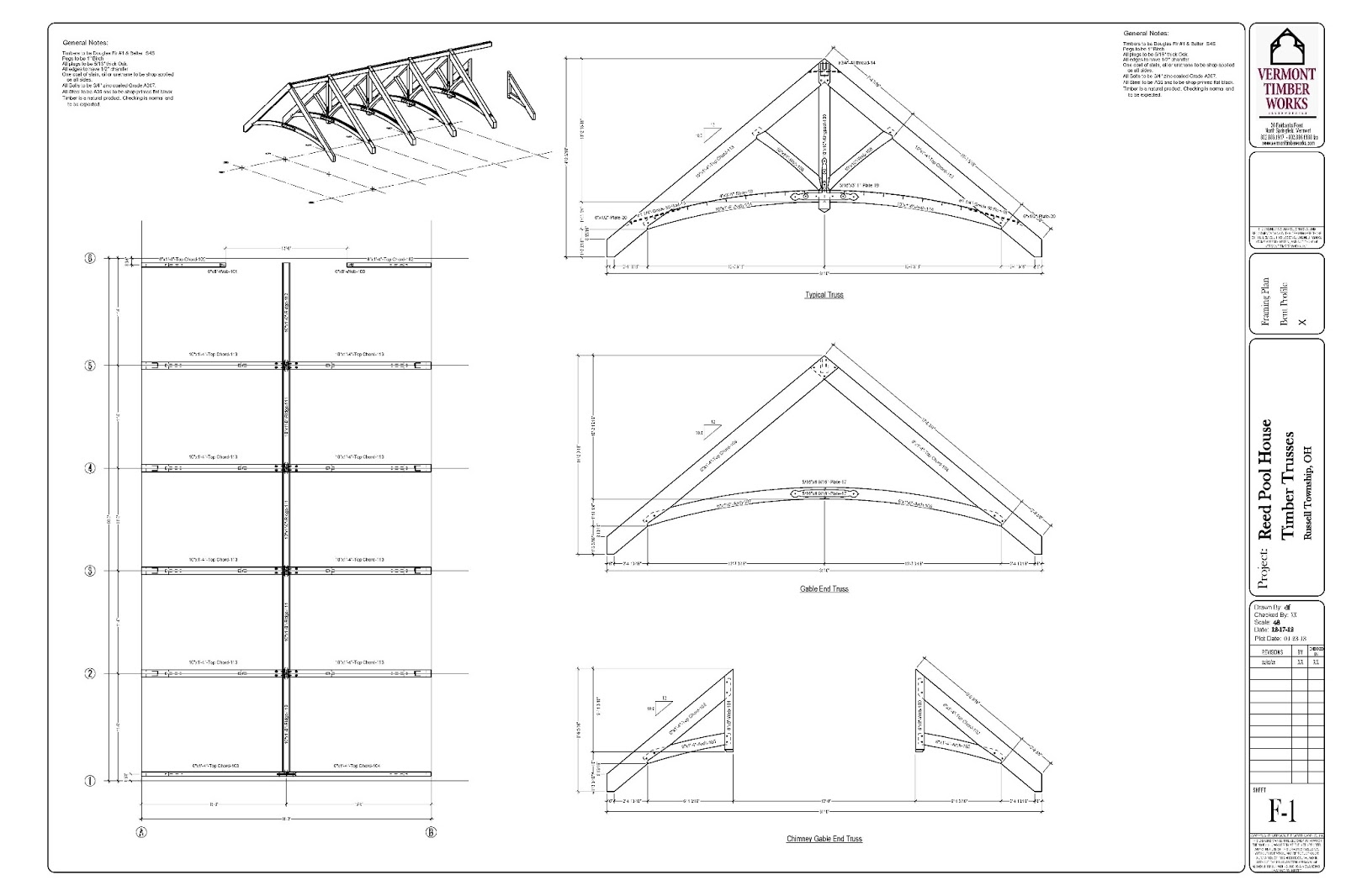 Timber Frame Design: Timber Frame Shop Drawings