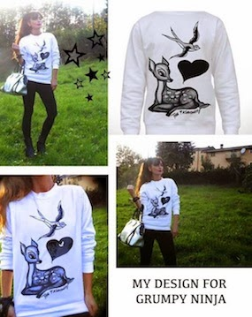 GET IT FOR 18, 00 :)  #Deer+ Swallow- Amy + Grumpy Ninja