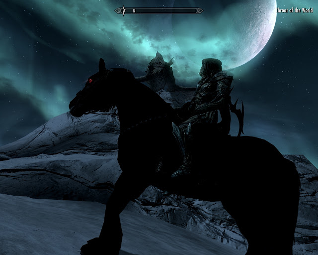 Skyrim screenshot. Dragons!