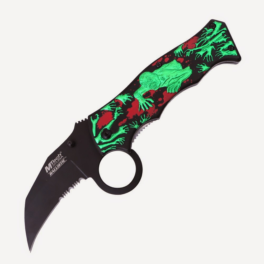 MTech Zombie, karambit knife, Curved Blade knife