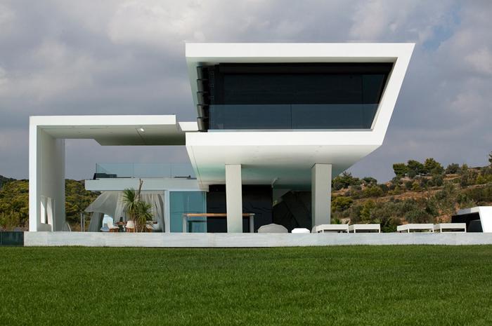 Casas minimalistas y modernas casa futurista en atenas for Casas futuristas
