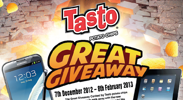 Tasto Potato Chips 'The Great Giveaway' Contest
