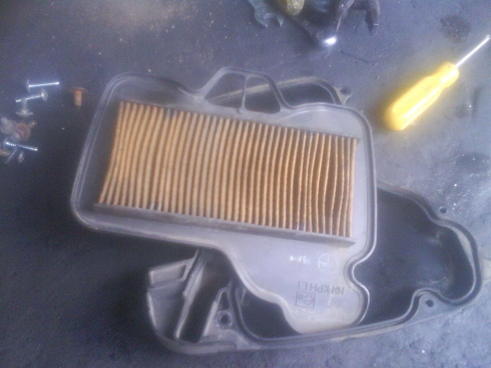 cara merawat filter udara motor