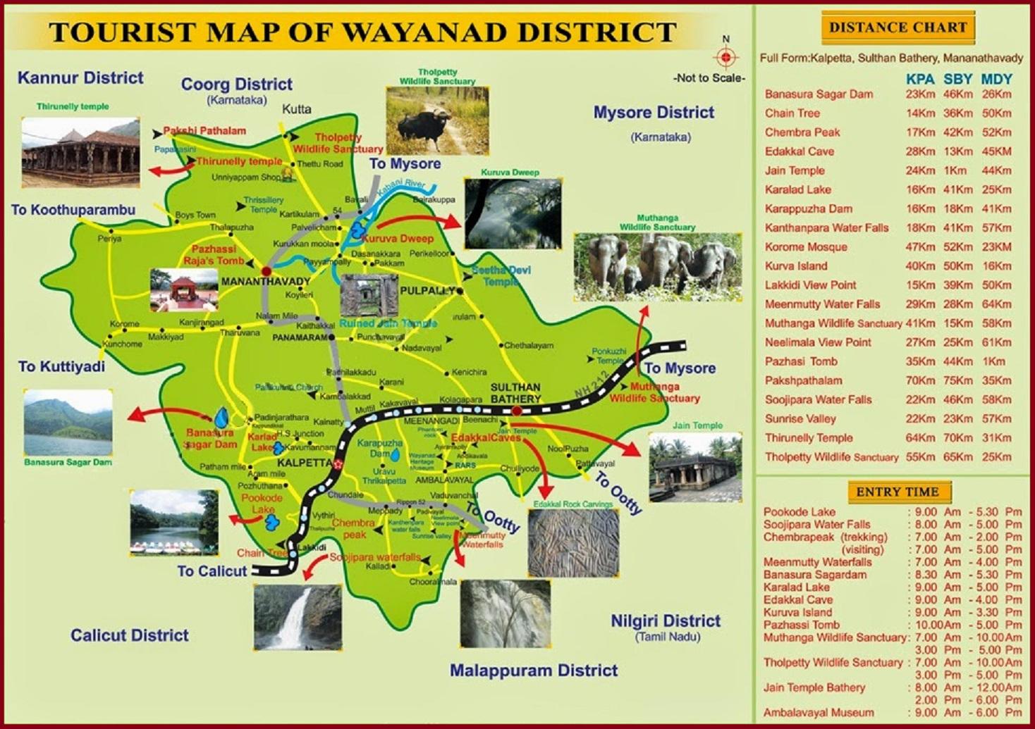 wayanad tourism map  tourist places in wayanad  tourist  - wayanad tourism map  tourist places in wayanad  tourist attractions inwayanadu  in and around wayanadu