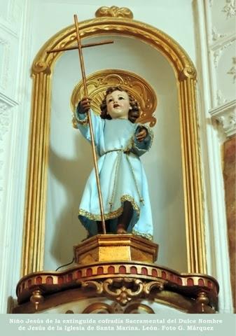 Niño Jesús de la extinguida cofradía Sacramental del Dulce Nombre de Jesús de la Iglesia de Santa Marina. León. Foto G. Márquez