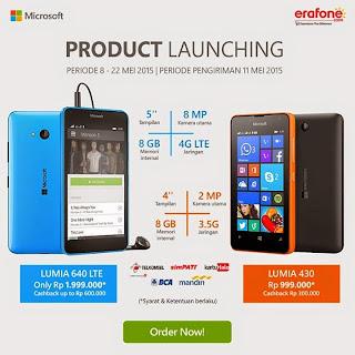 Promo Launching Microsoft Lumia 640 LTE dan Lumia 430