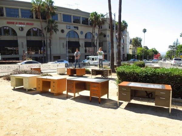 Robin Williams standing on desk tribute Sunset Strip