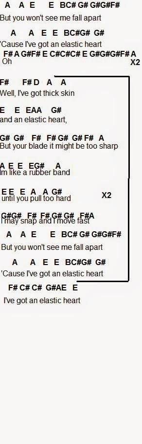Flute Sheet Music Elastic Heart