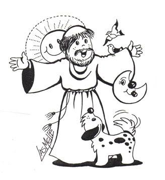 Dibujo de San Francisco de Asís para colorear | Dibujos