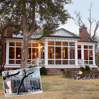 A place to dwell a screened porch for Houses with screened in porches