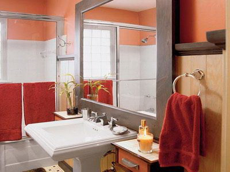 Bold bathroom paint ideas for small bathroom yonehome Paint ideas for bathroom