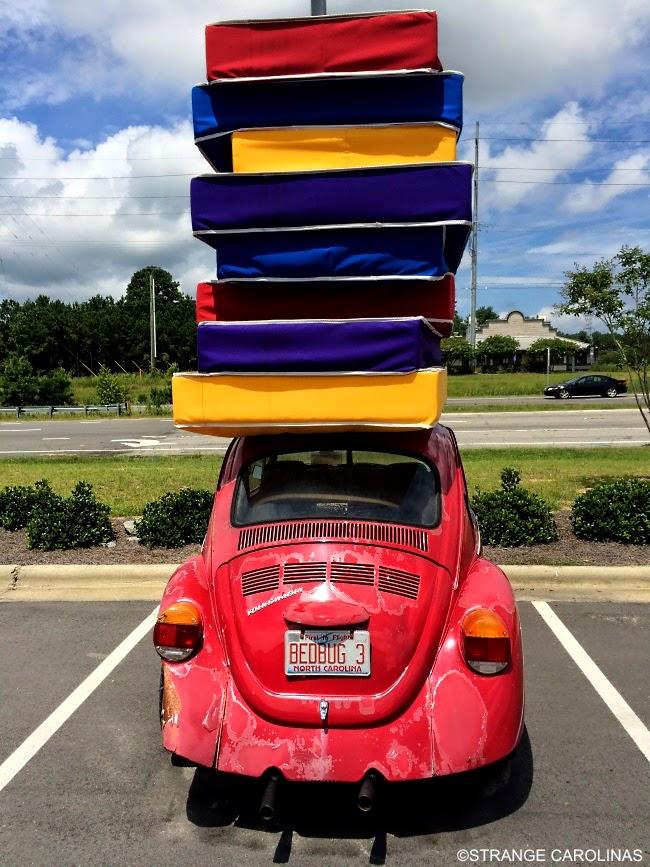 bed bug  volkswagen beetle   carry  mattresses rocky mount nc strange