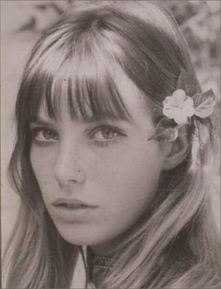 Jane Birkin with a flower in her hair