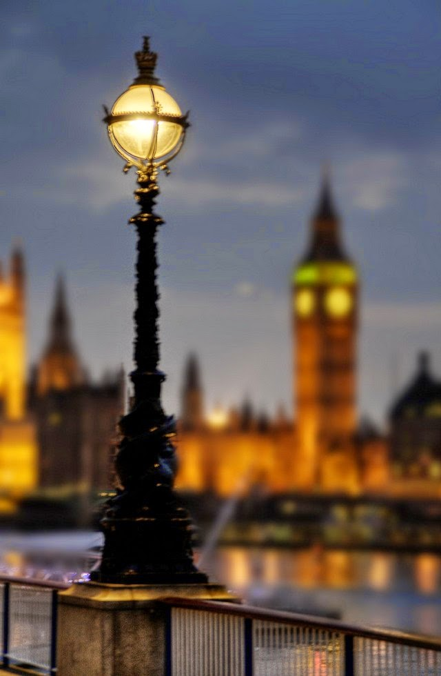 southbank lights big ben london uk