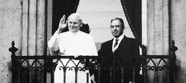 Pope John Paul II & Augusto Pinochet.