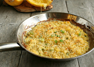 Light Spaghetti Squash Gratin