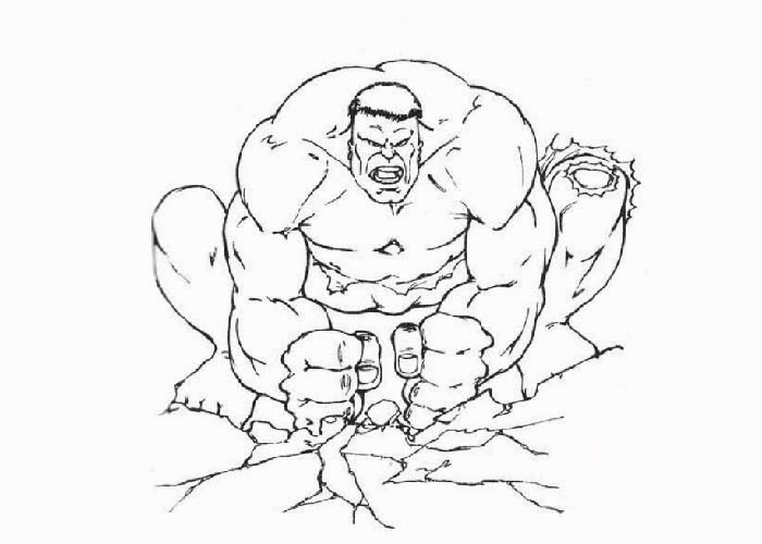 hulk face coloring pages - photo#11