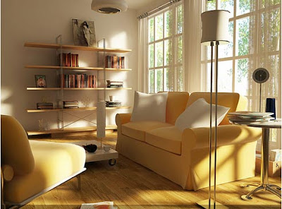 Contemporary Clean Living Room Design Interior Sets