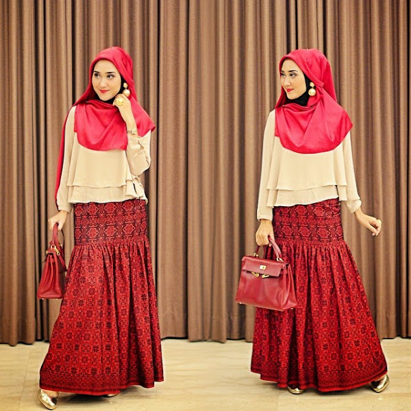 Model Baju Muslim Wanita Untuk Lebaran Trend Terbaru 2015