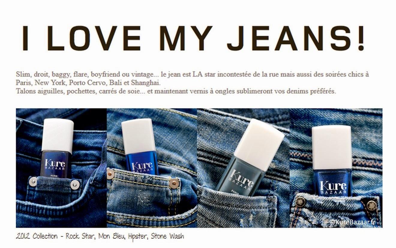 vernis blue jeans bleu Kure Bazaar