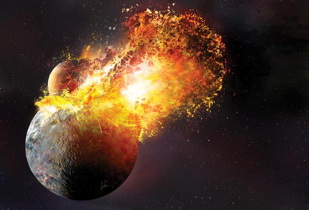 El mismo impacto que creó la Luna formó también la corteza terrestre