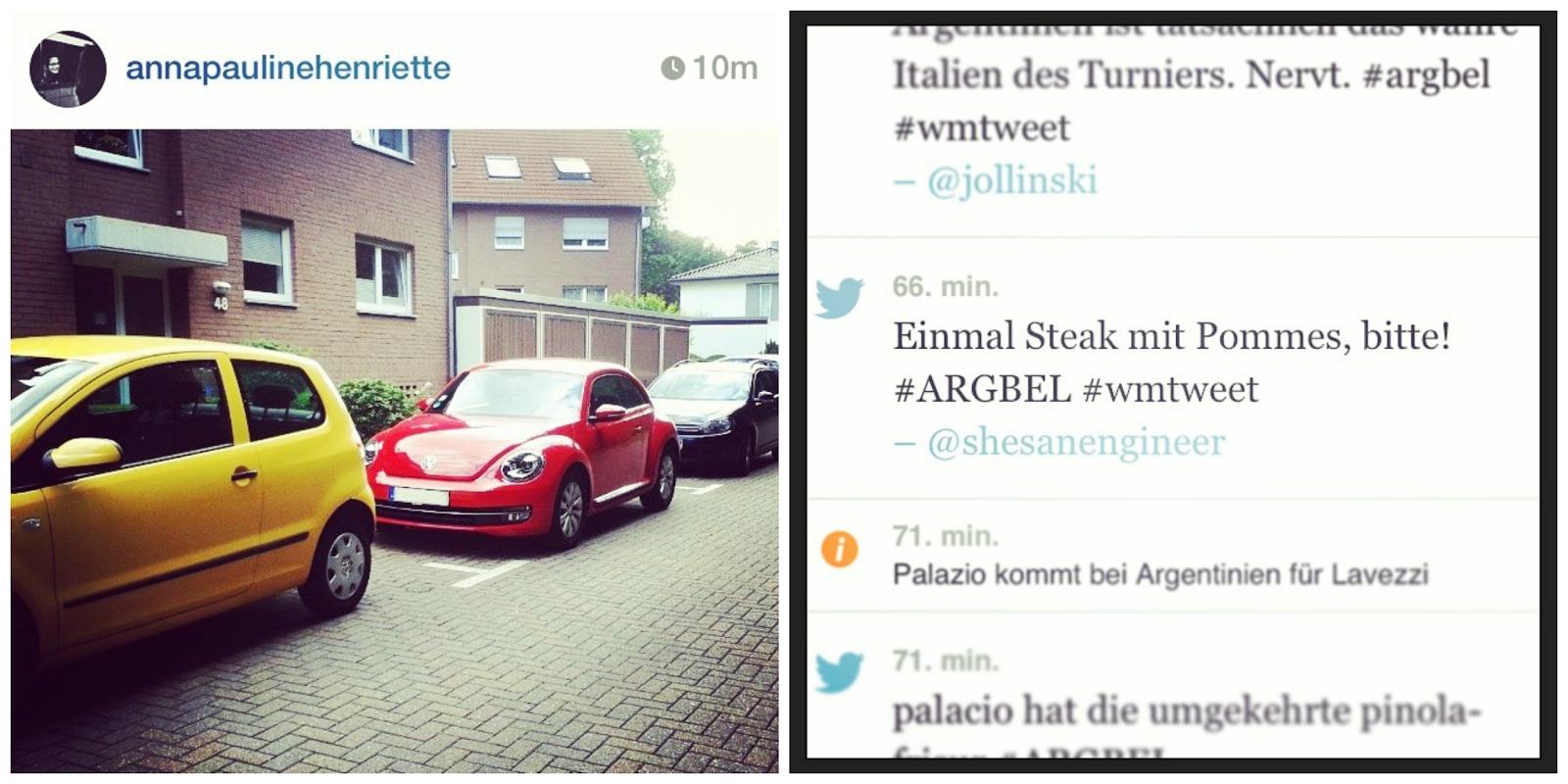 Weltmeisterliches Parken und um die Wette twittern