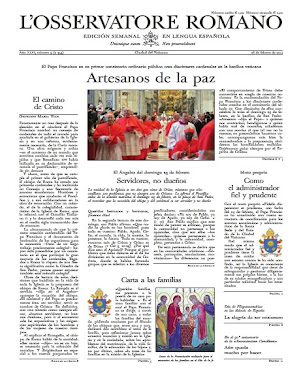 "Último número del ""Osservatore Romano"""