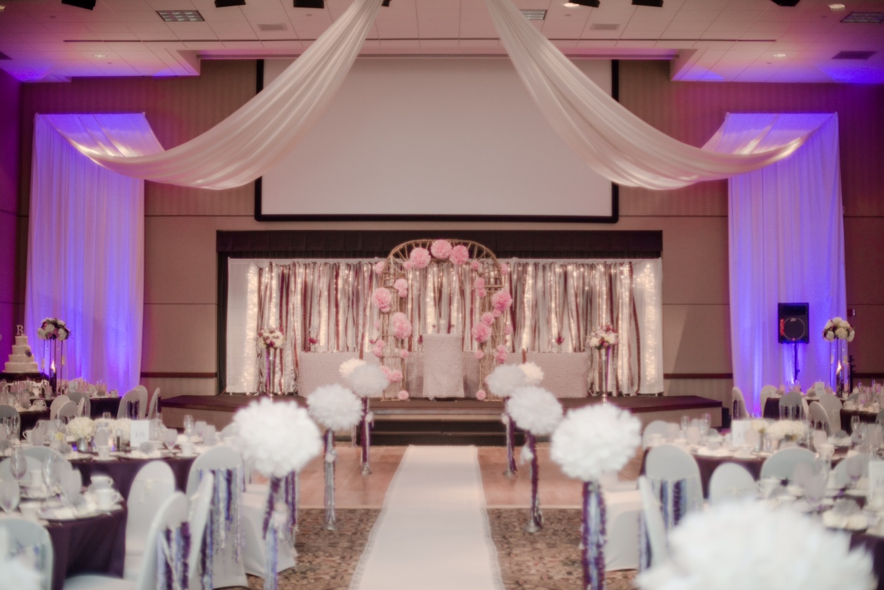 As you wish floral design early spring wedding at the hy for Wedding reception room decoration ideas