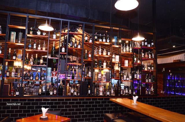 A wide choice of liquor at Eau De Vie is available