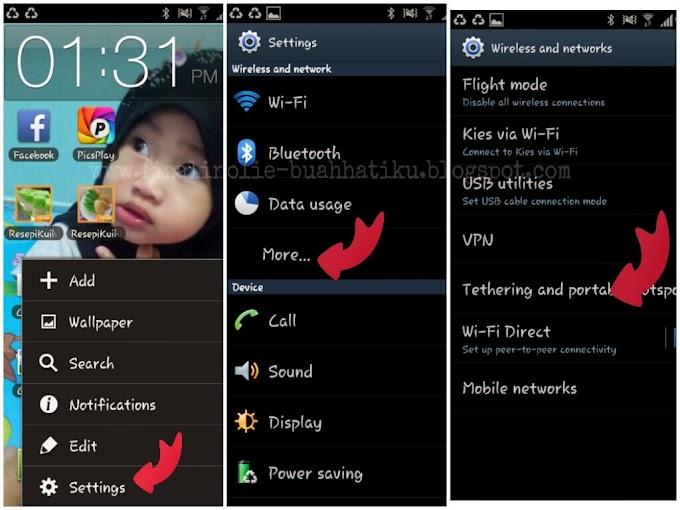 Cara Connect Internet Handphone Dengan Laptop