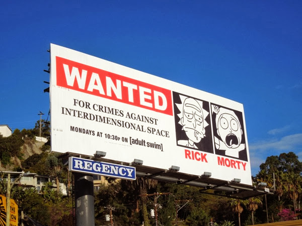 Rick and Morty season 1 billboard