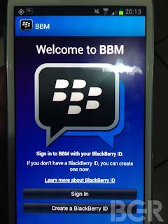 BBM untuk Android Segera dapat di Download melaui Play Store