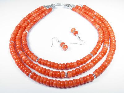 biżuteria góralska ślubna, Ekokoral, koral, korale z korala korale ludowe