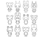 #22 Animal Crossing Coloring Page