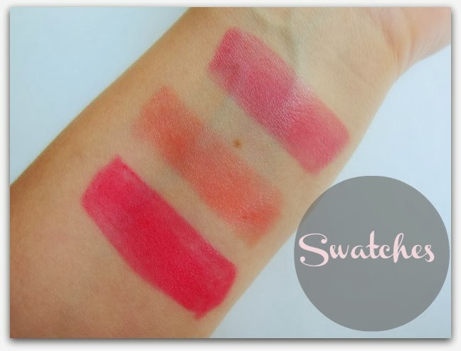 Benefit Hydra-Smooth Lipstick Swatches