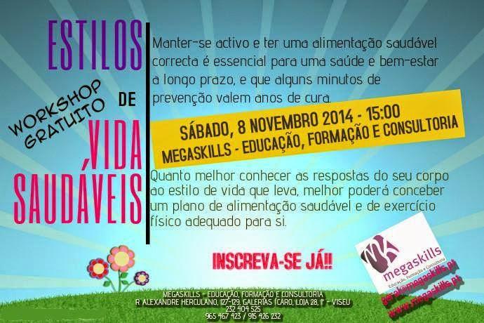 "Workshop gratuito ""Vidas Saudáveis"" – Viseu"