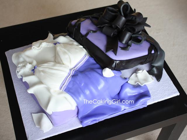 lingerie gift box cake