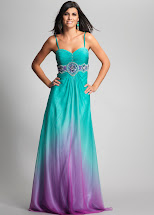 Teal and Purple Ombre Bridesmaid Dresses
