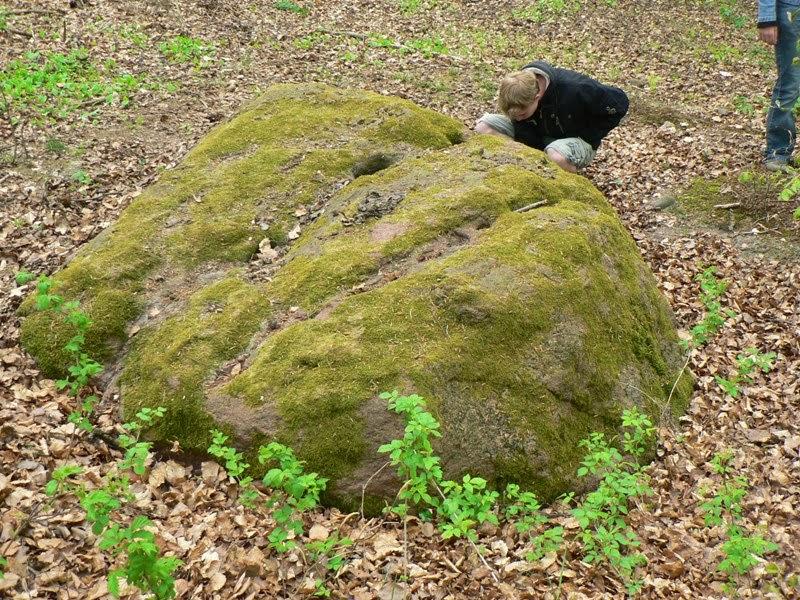Pogański kamień ofiarny na Górze Dylewskiej