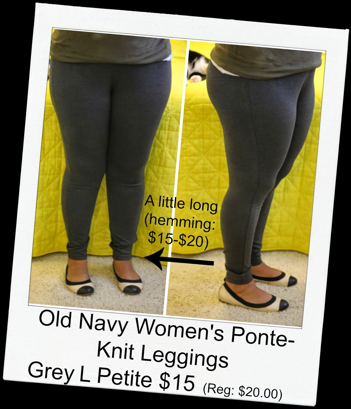 Curvy, Petite Outfit Ideas | Professional and Casual-Chic Fashion and Style Inspiration | old navy legging review